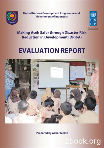 EVALUATION REPORT - UNDP