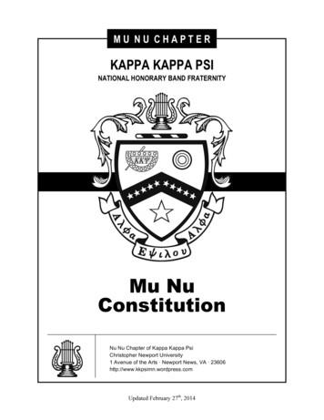 KAPPA KAPPA PSI - Christopher Newport University