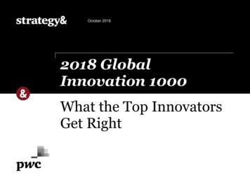 2018 Global Innovation 1000 - Strategy&