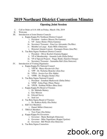 2019 Northeast District Convention Minutes