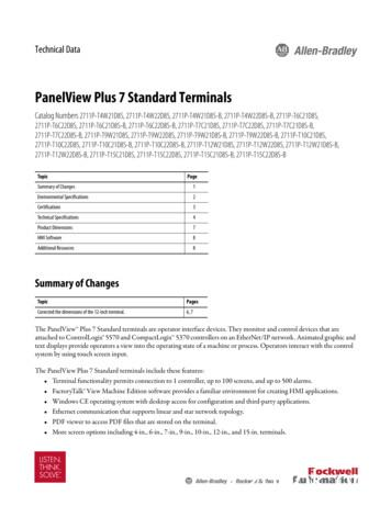PanelView Plus 7 Standard Terminals Technical Data, (2711P .