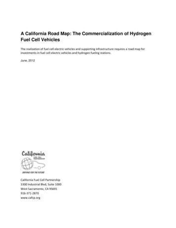 A California Road Map - California Fuel Cell Partnership
