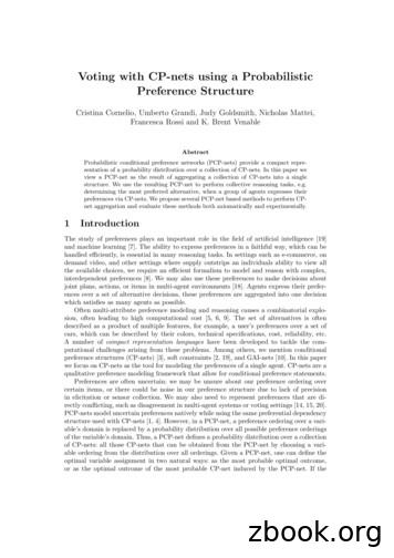 Voting with CP-nets using a Probabilistic Preference Structure