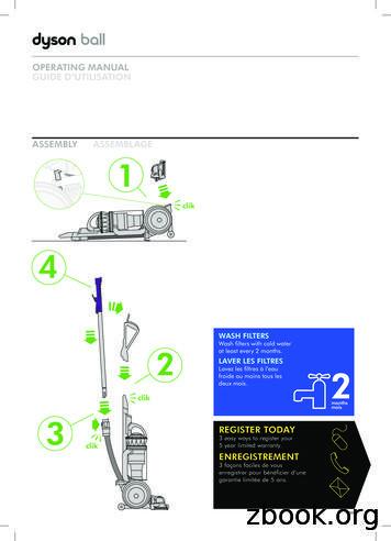 Dyson Ball Animal 2 Manual - Vacuum Cleaner Advisor