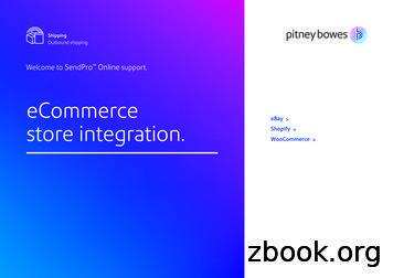 eCommerce store integration. Shopify WooCommerce