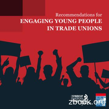 Recommendations for ENGAGING YOUNG PEOPLE IN TRADE UNIONS