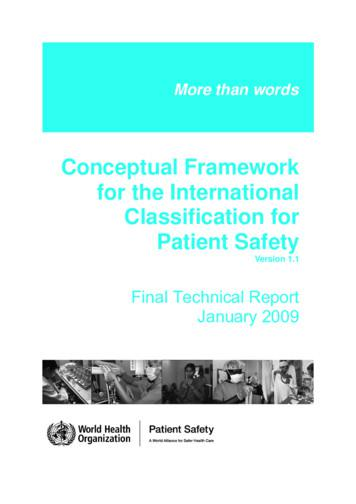 Conceptual Framework for the International Classification .