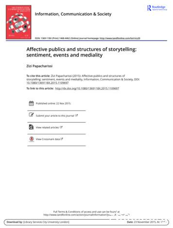 Affective publics and structures of storytelling .