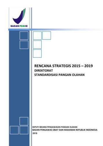 RENCANA STRATEGIS 2015 2019 - standarpangan.pom.go.id