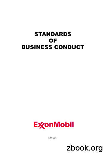 STANDARDS OF BUSINESS CONDUCT - ExxonMobil