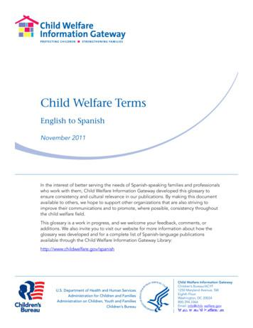 Child Welfare Terms