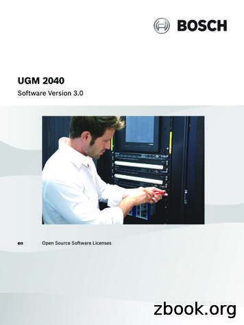 UGM 2040 OSS Licenses 3 0