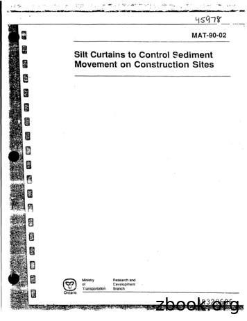 Silt Curtains to Control Sediment Movement on Construction .