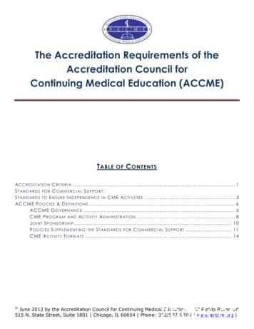 The Accreditation Requirements of the Accreditation .
