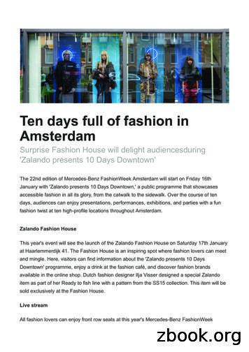 Ten days full of fashion in Amsterdam