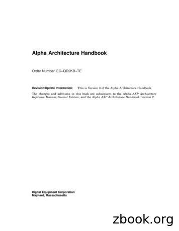 Alpha Architecture Handbook - Harvard University