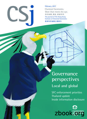 Governance perspectives - The Journal of The Hong Kong .
