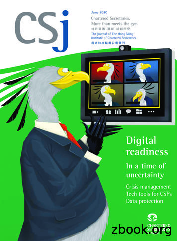Digital readiness - CSJ HKICS The Journal of The Hong .
