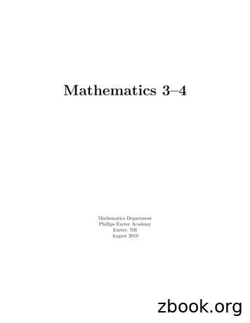 Mathematics 3-4 Problem Sets - Exeter