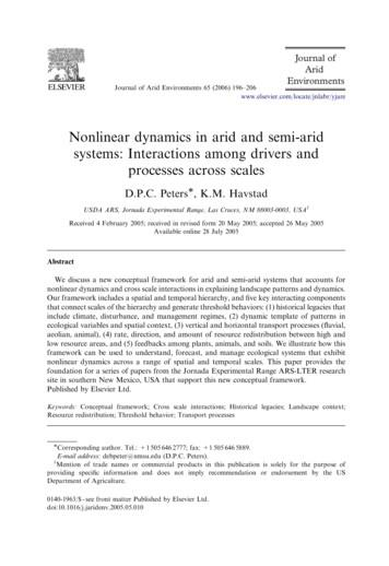 Nonlinear dynamics in arid and semi-arid systems .