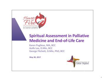 SU4 - Spiritual Assessment in Palliative Medicine and End .