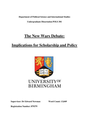 Implications for Scholarship and Policy