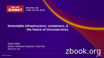 Immutable infrastructure, containers, & the future of .