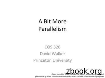 A Bit More Parallelism - Princeton University Computer Science