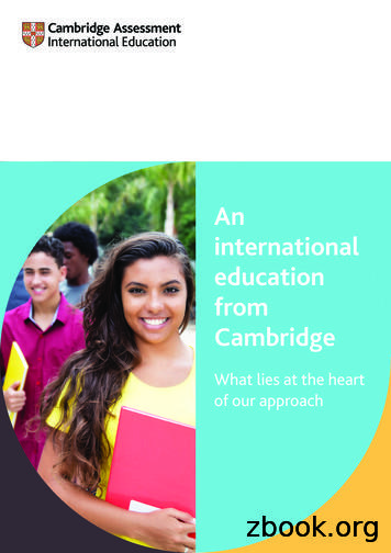 An international education from Cambridge