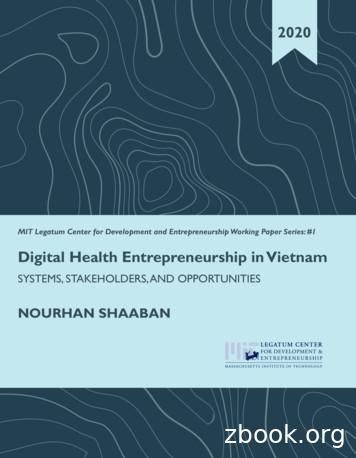 Digital Health Entrepreneurship in Vietnam