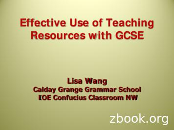 Effective Use of Teaching Resources with GCSE