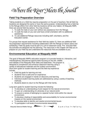 Field Trip Preparation - FWS