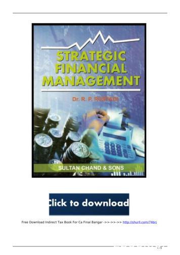 free indirect tax book for ca final bangar