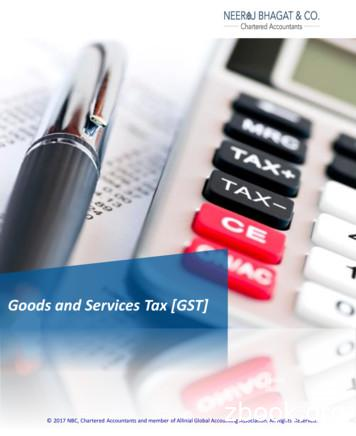 Goods and Services Tax [GST] - Tax Consultant in India