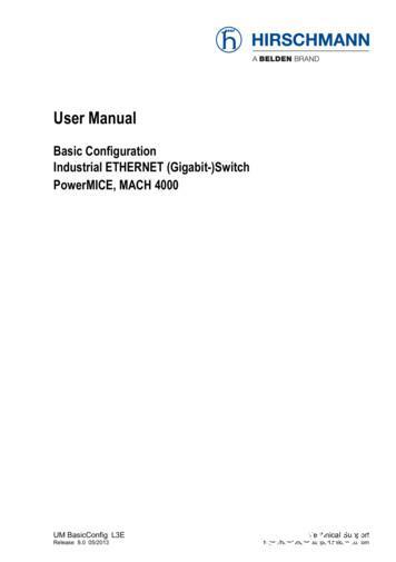Basic Configuration: Industrial ETHERNET (Gigabit-)Switch .