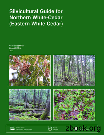 Silvicultural guide for northern white-cedar (eastern .