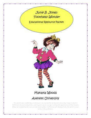 Junie B. Jones: Toothless Wonder - Averett University