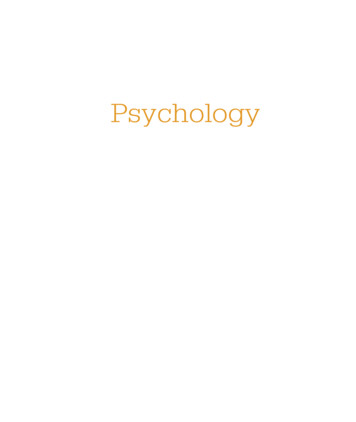 Psychology - Pearson Education