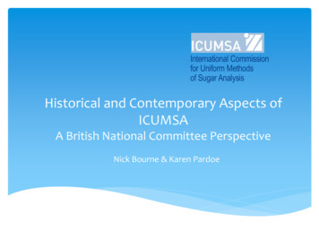 Historical and Contemporary Aspects of ICUMSA
