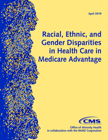 Racial, Ethnic, and Gender Disparities in Health Care in .