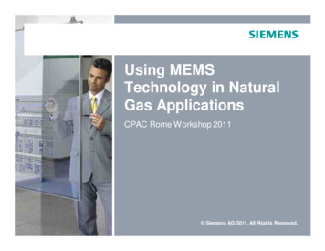 Using MEMS Technology in Natural Gas Applications