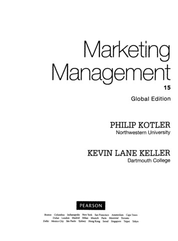 Marketing Management 15 Global Edition PHILIP KOTLER KEVIN .