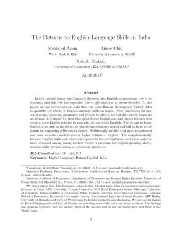 The Returns to English-Language Skills in India