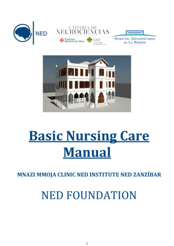 Basic Nursing Care Manual