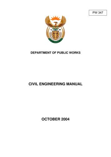 CIVIL ENGINEERING MANUAL