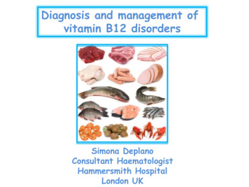 Diagnosis and management of vitamin B12 disorders