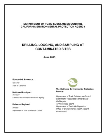 Drilling,Logging & Sampling at Contaminated Sites