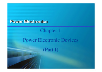 Chapter 1 Power Electronic Devices (Part I)