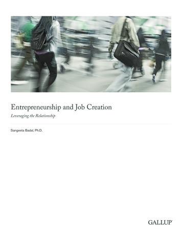 Entrepreneurship and Job Creation
