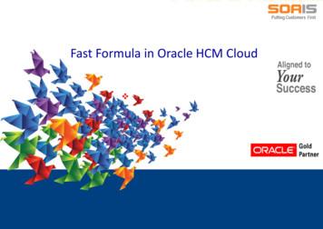 Fast Formula in Oracle HCM Cloud - SOAIS